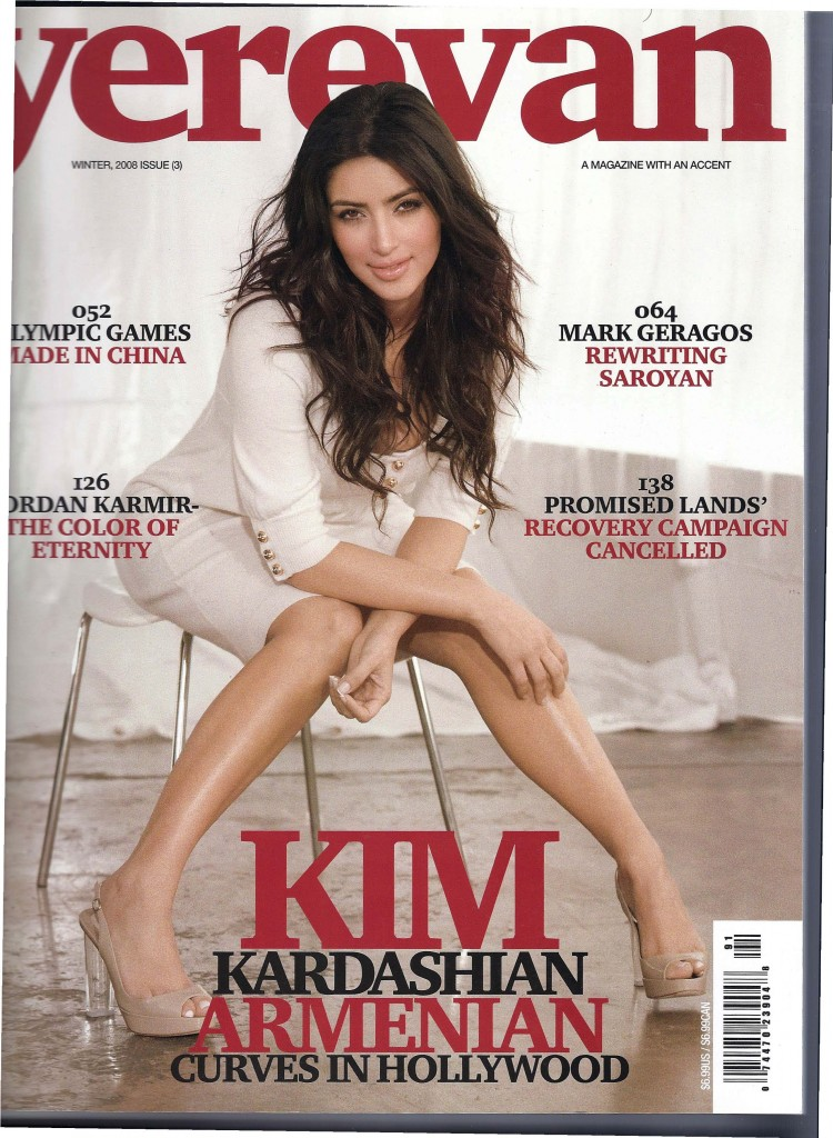 Yerevan Magazine Cover with Kim Kardashian